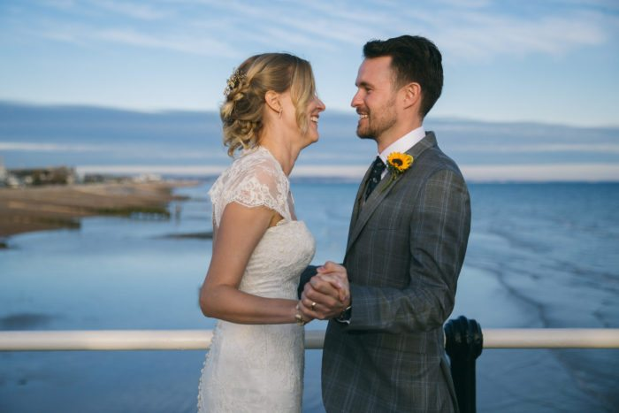 seafront wedding photography