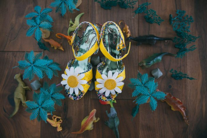 sunflower wedding shoes