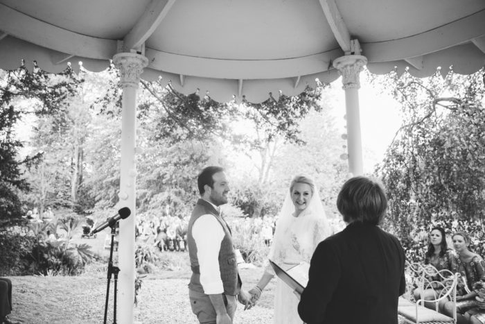bandstand wedding photo
