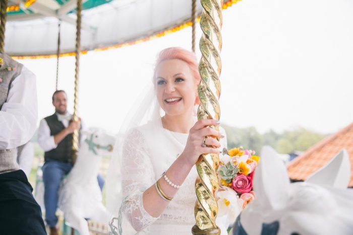 carousel at wedding