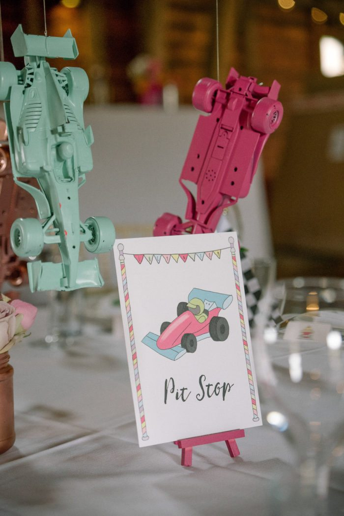 quirky wedding table settings