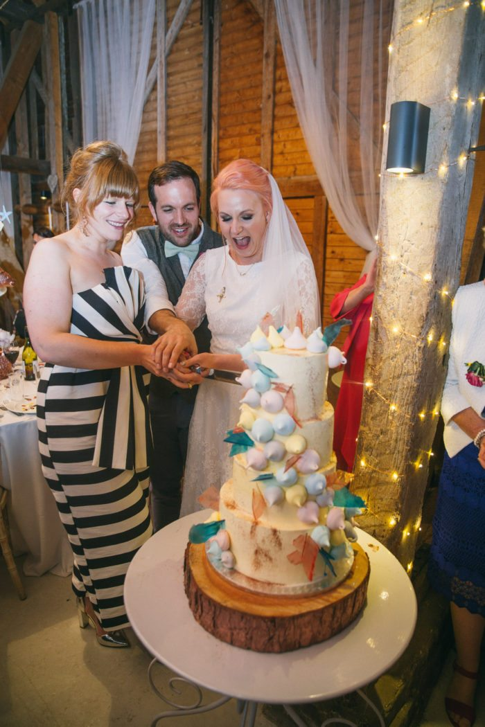 Wedding With Meringue Cake